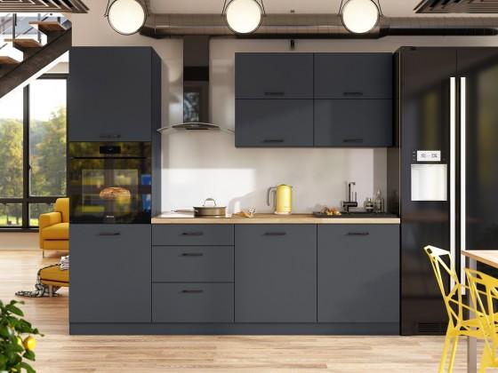 Rovná Kuchyňa Lisa - 240 cm (sivá)