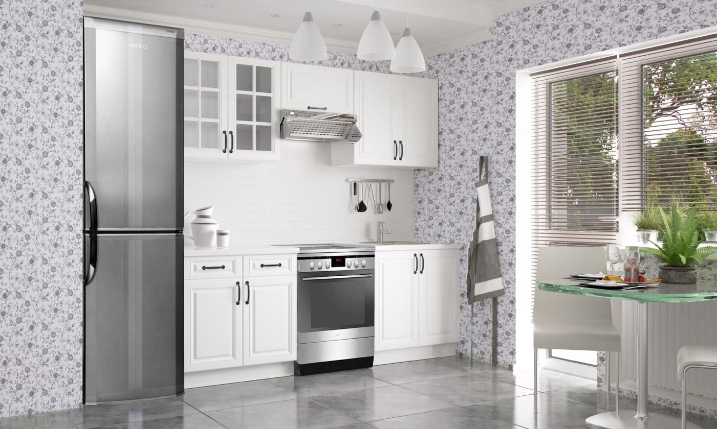 Rovná Kuchyňa Michelle - 220 cm (biela)