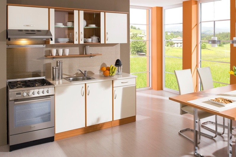Rovná Kuchyňa Milly - 210 cm (vanilka/olše)