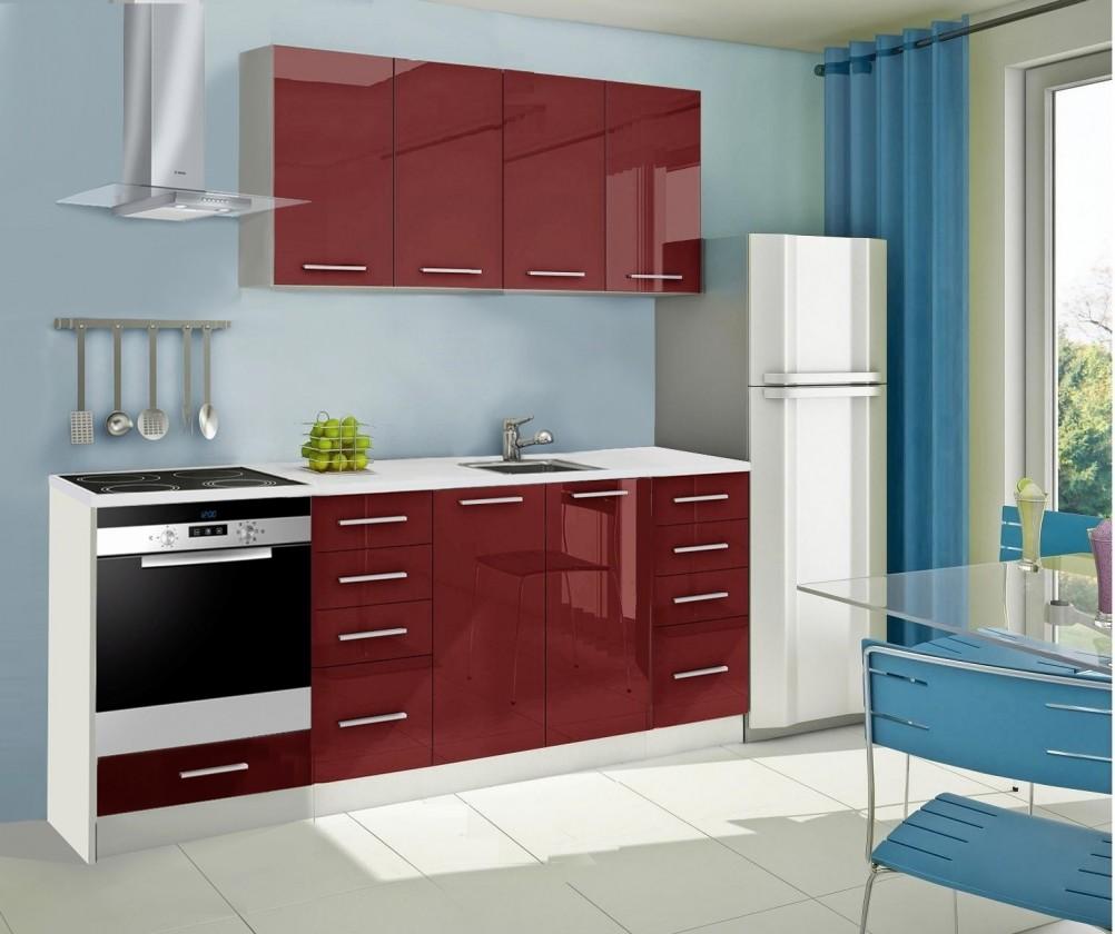Rovná Mondeo - kuchynský blok A 160/220 cm (pracovná doska - mramor)