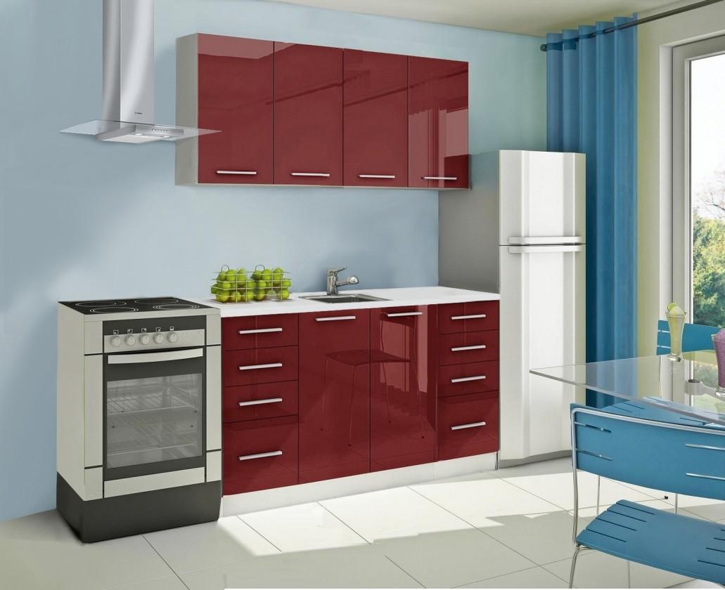 Rovná Mondeo - kuchynský blok A 160 cm (pracovná doska - mramor)