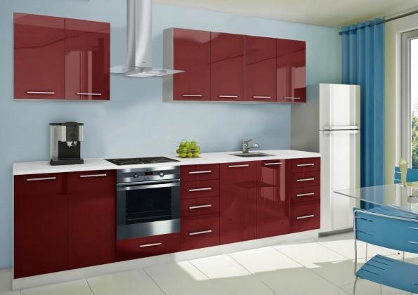 Rovná Mondeo - kuchynský blok A 240/300 cm (pracovná doska - mramor)