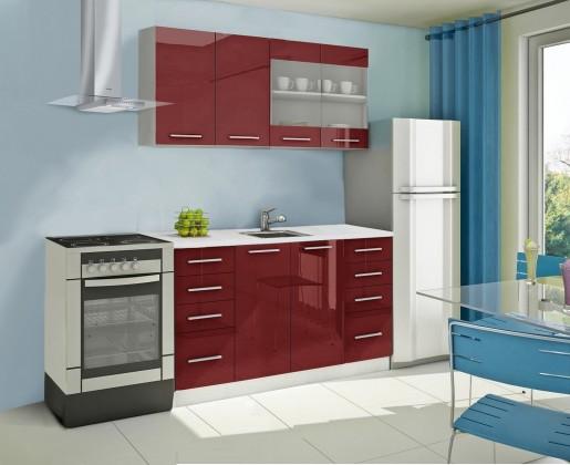 Rovná Mondeo - kuchynský blok B 160 cm (pracovná doska - mramor)