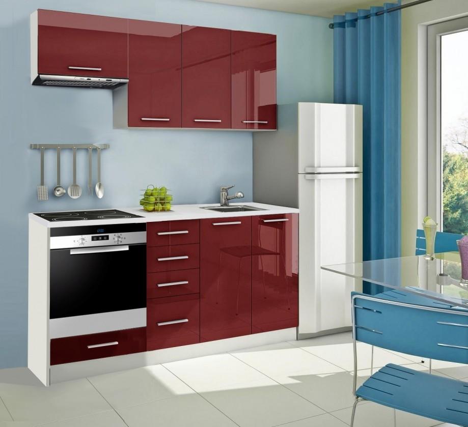Rovná Mondeo - kuchynský blok B 180 cm (pracovná doska - mramor)