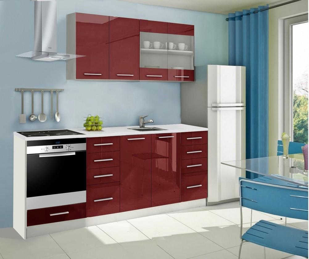 Rovná Mondeo - kuchynský blok C 160/220 cm (pracovná doska - mramor)