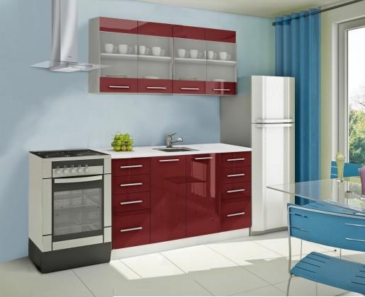Rovná Mondeo - kuchynský blok C 160 cm (pracovná doska - mramor)