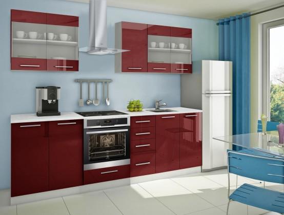 Rovná Mondeo - kuchynský blok C 200/260 cm (pracovná doska - mramor)