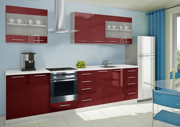 Rovná Mondeo - kuchynský blok C 240/300 cm (pracovná doska - mramor)