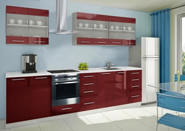 Rovná Mondeo - kuchynský blok D 240/300 cm (pracovná doska - mramor)