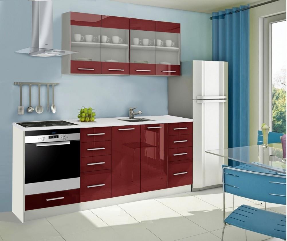 Rovná Mondeo - kuchynský blok E 160/220 cm (pracovná doska - mramor)