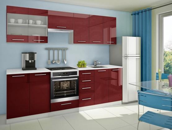 Rovná Mondeo - kuchynský blok E 260 cm (pracovná doska - mramor)