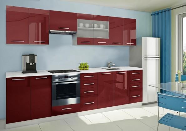 Rovná Mondeo - kuchynský blok F 300 cm (pracovná doska - mramor)