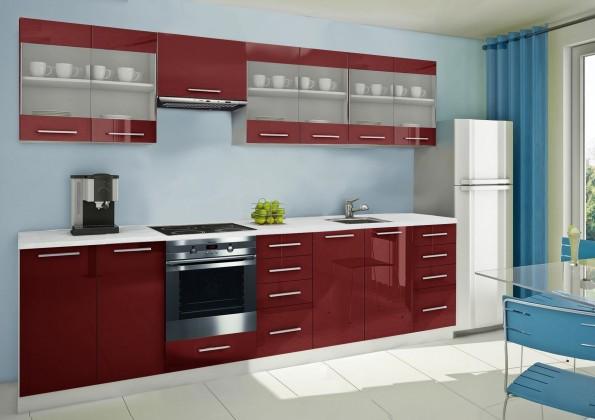 Rovná Mondeo - kuchynský blok H 300 cm (pracovná doska - mramor)