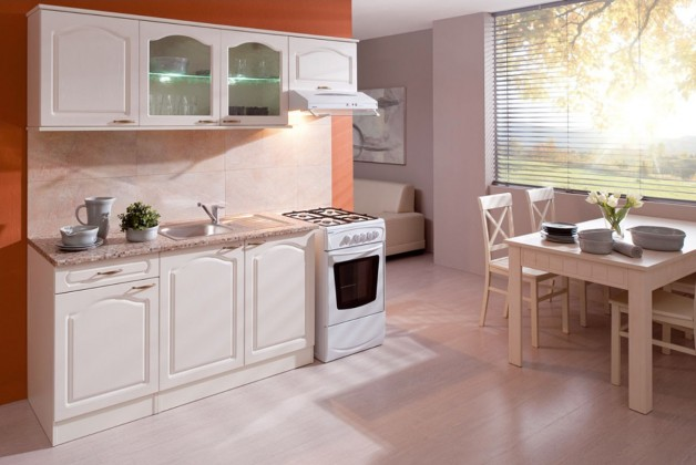 Rovné kuchynské linky Kuchyňa Julia - 210 cm (vanilka/magnolie/tropica beige)