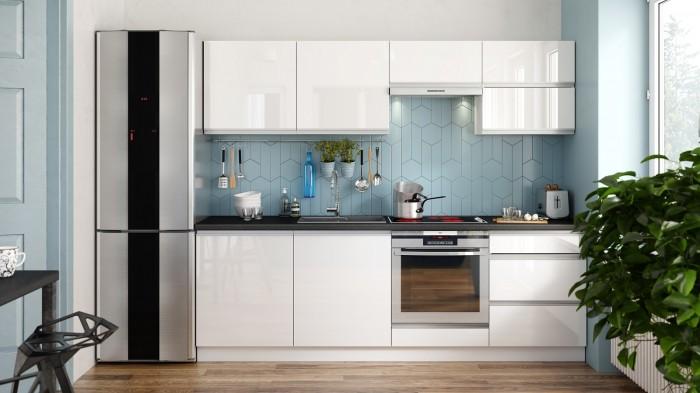 Biela kuchyňa v interiéri