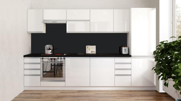 Biela lesklá kuchyňa
