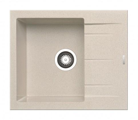 Rovný Alazia-Granit. drez 59x50,béžová
