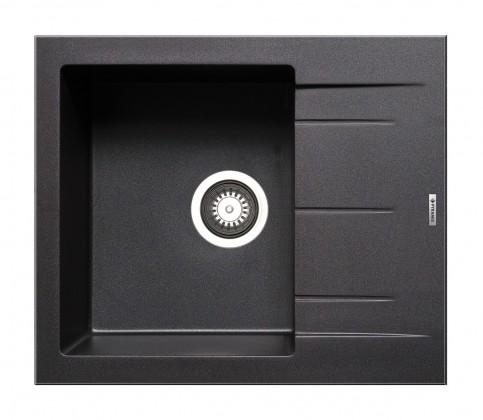 Rovný Alazia-Granitový drez 59x50,čierna