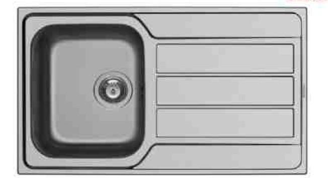 Rovný Athena 1B 1D - výtok. otvor 92 (86x50)