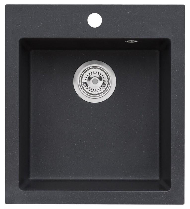 Rovný Drez DKL 03, granit, 45x50cm