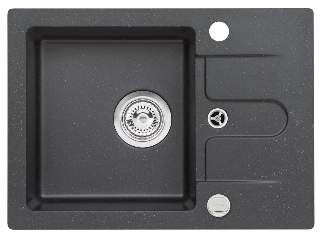 Rovný Drez DKL 05 ,granit,58x42cm