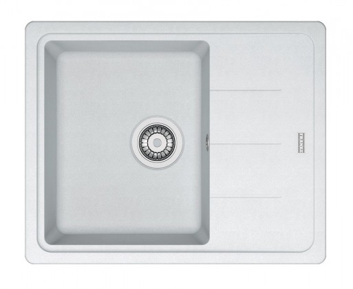 Rovný Franke - drez Fragranit BFG 611-62, 620x500 (biela-ľad)