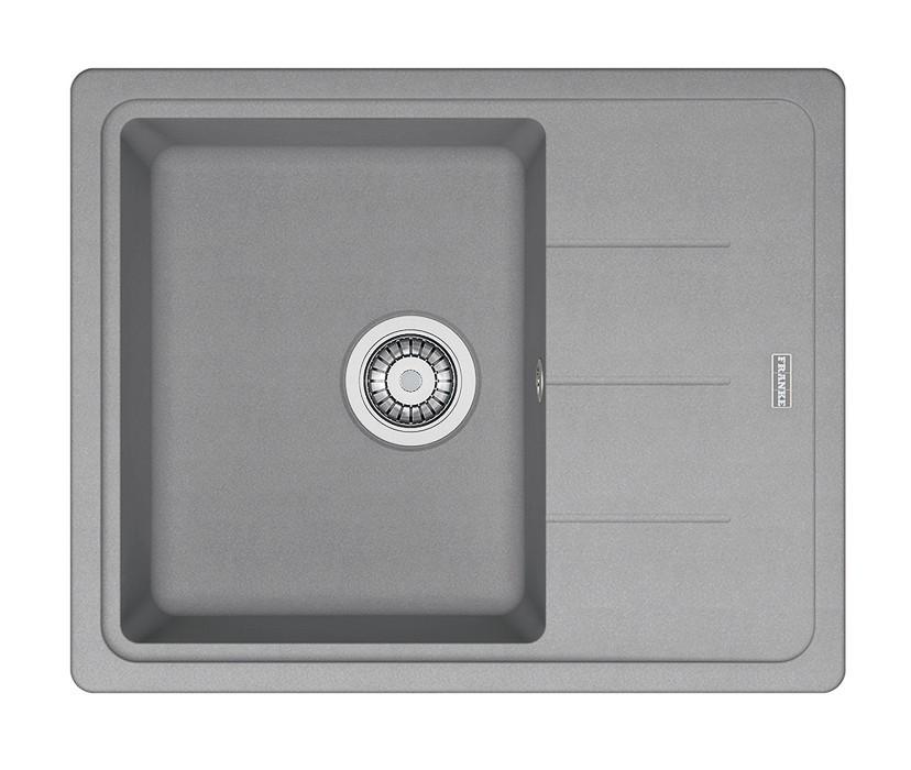 Rovný Franke - drez Fragranit BFG 611-62, 620x500 (sivý kameň)