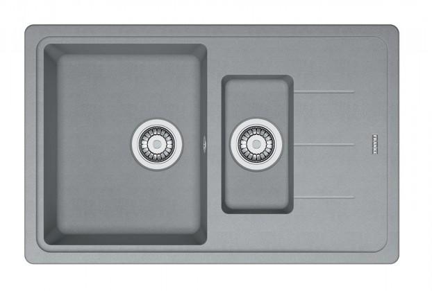 Rovný Franke - drez Fragranit BFG 651-78, 780x480 (sivý kameň)