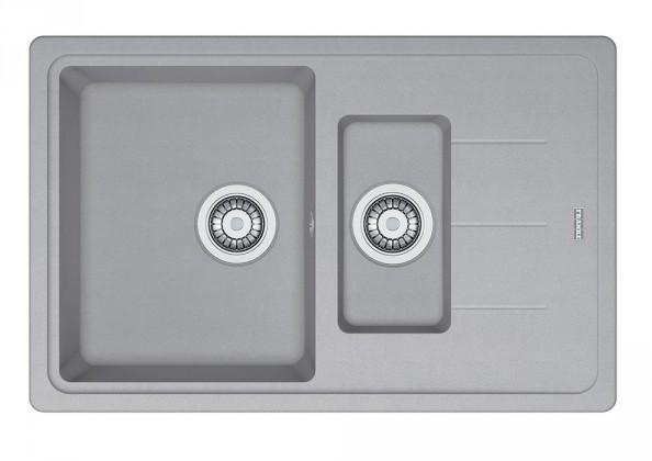 Rovný Franke - drez Fragranit BFG 651-78, 780x480 (strieborná)
