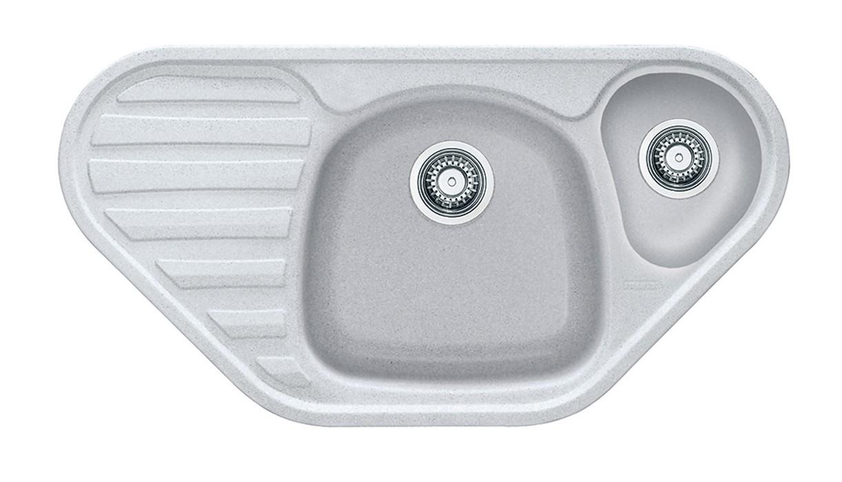 Rovný Franke - drez Fragranit COG 651 E, 960x500 (biela-ľad)