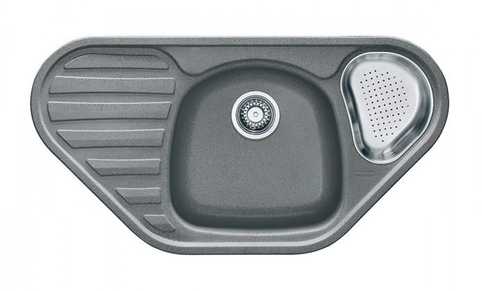 Rovný Franke - drez Fragranit COG 651 E, 960x500 (sivý kameň)