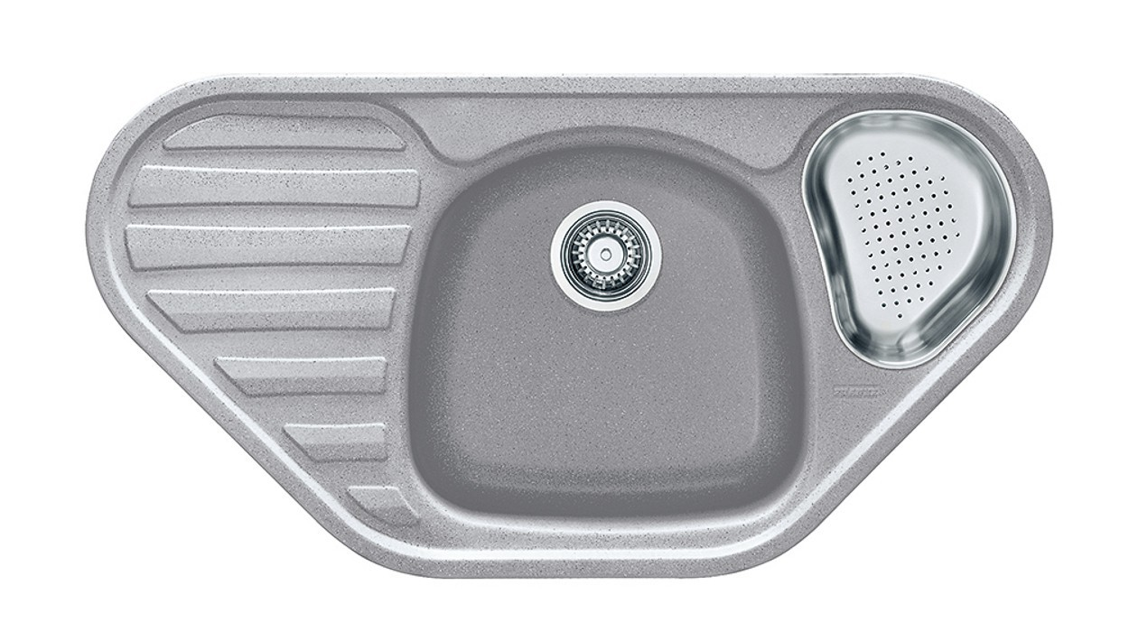 Rovný Franke - drez Fragranit COG 651 E, 960x500 (strieborná)