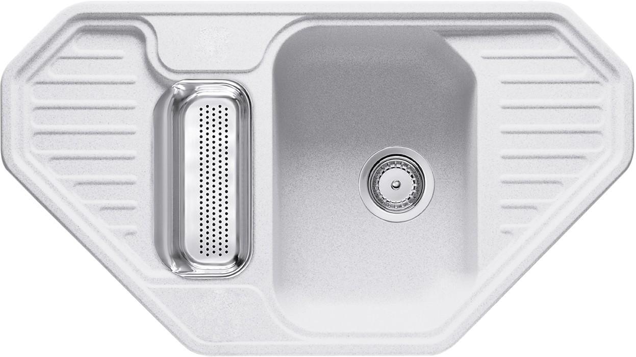 Rovný Franke - drez Fragranit EFG 682 E, 905x505 (biela-ľad)
