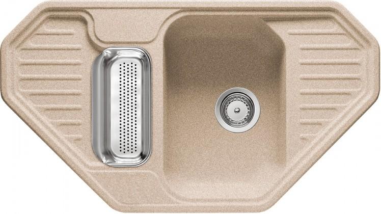 Rovný Franke - drez Fragranit EFG 682 E, 905x505 (pieskový melír)