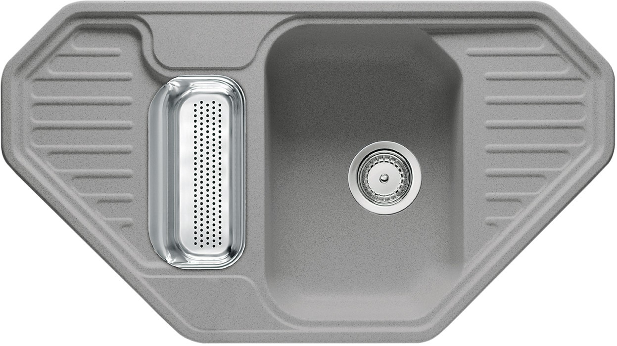 Rovný Franke - drez Fragranit EFG 682 E, 905x505 (sivý kameň)