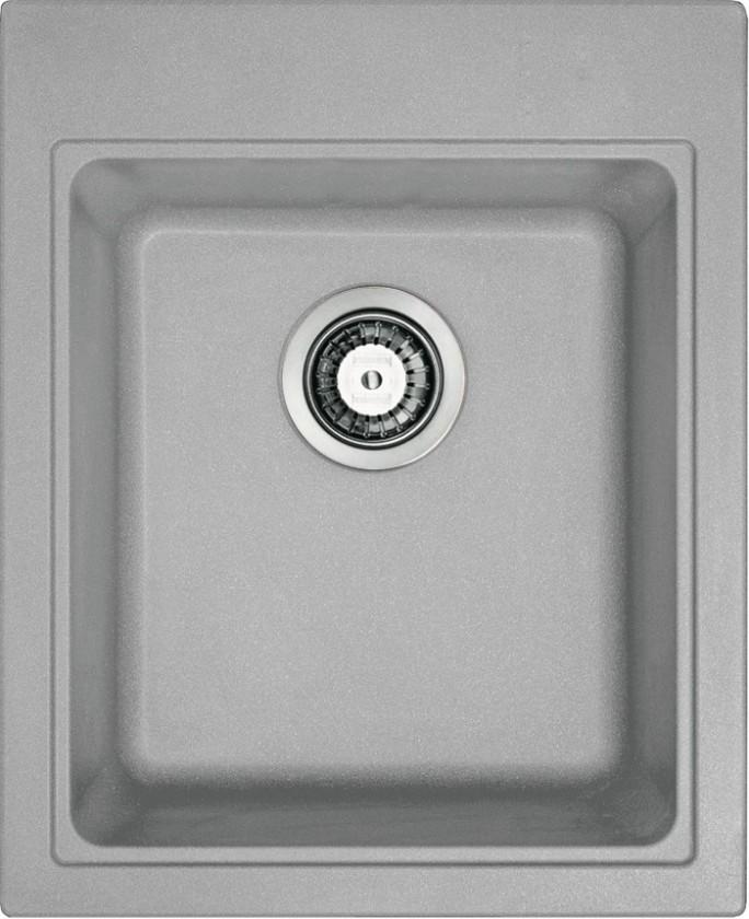 Rovný Franke - drez Fragranit KSG 218, 425x520 mm (sivý kameň)