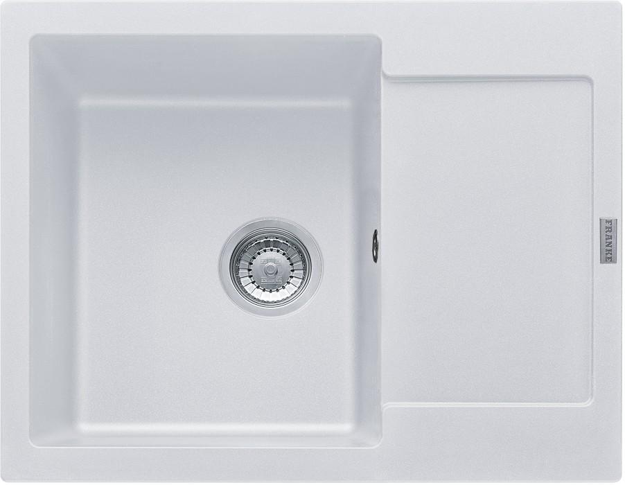 Rovný Franke - drez Fragranit MRG 611-62, 620x500, (biela-ľad)