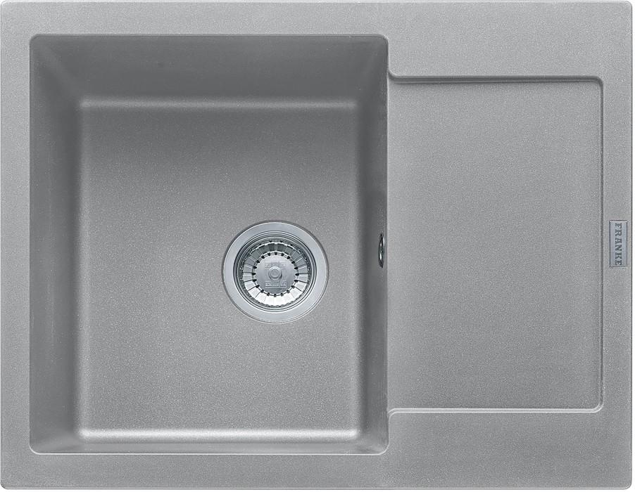 Rovný Franke - drez Fragranit MRG 611-62, 620x500 (sivý kameň)