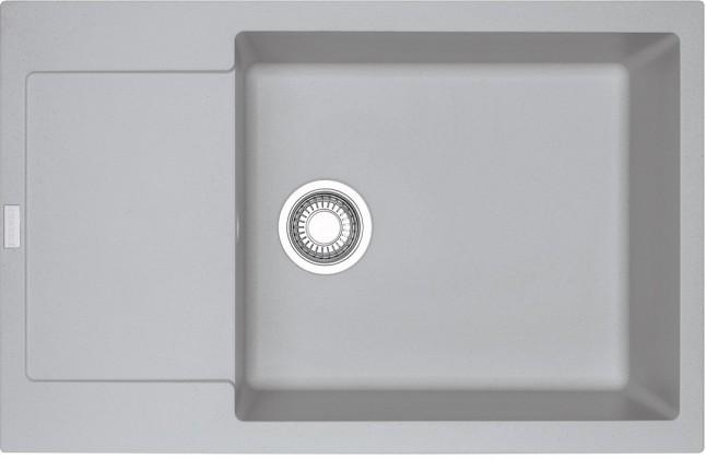 Rovný Franke - drez Fragranit MRG 611-78 BB, 780x500 (strieborná)