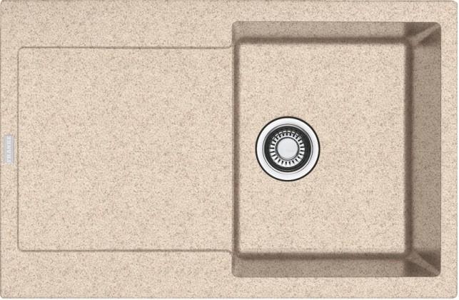 Rovný Franke - drez Fragranit MRG 611, 780x500 (pieskový melír)