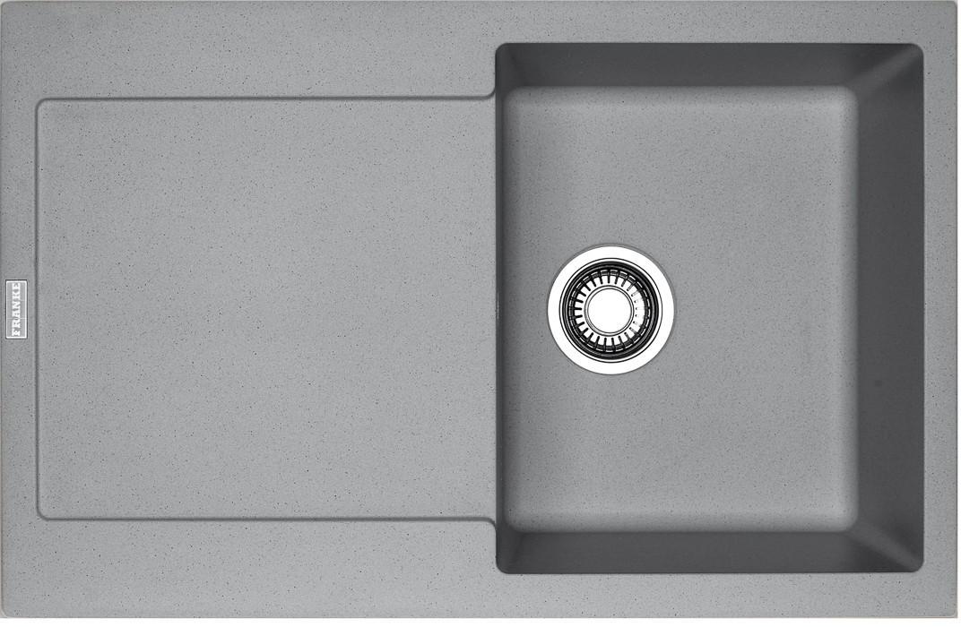 Rovný Franke - drez Fragranit MRG 611, 780x500 (sivý kameň)