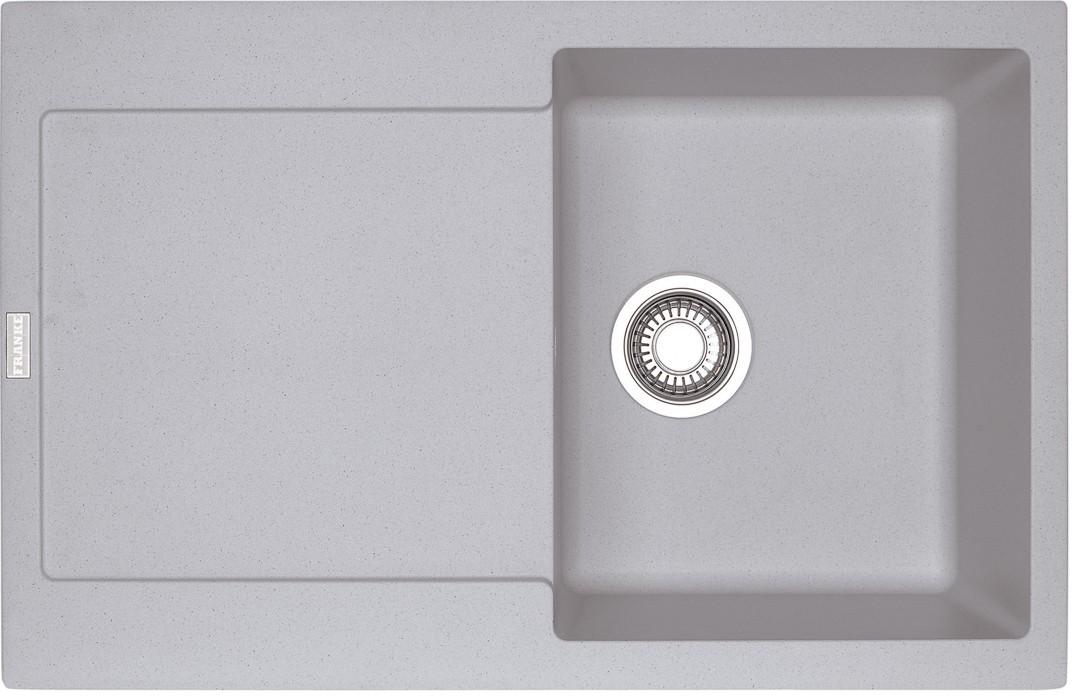 Rovný Franke - drez Fragranit MRG 611, 780x500 (strieborná)