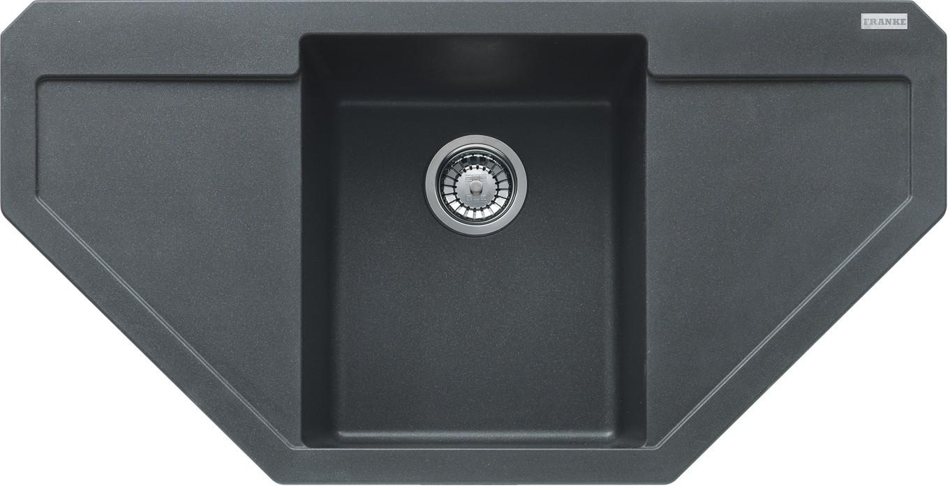 Rovný Franke - drez Fragranit MRG 612 E, 960x500 (grafit)