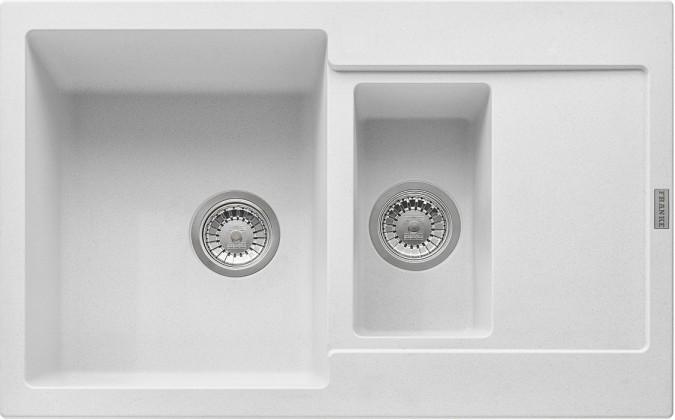 Rovný Franke - drez Fragranit MRG 651-78, 780x500 (biela-ľad)