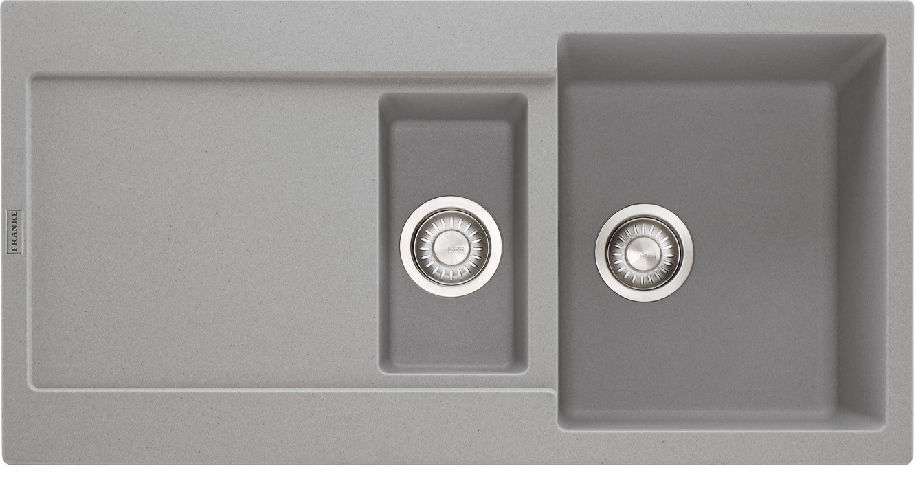 Rovný Franke - drez Fragranit MRG 651, 970x500 (sivý kameň)