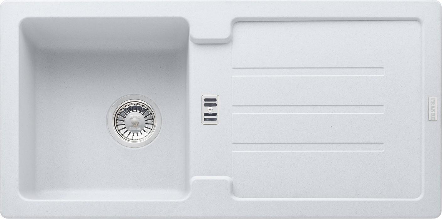 Rovný Franke - drez Fragranit STG 614, 860x435mm (biela-ľad)