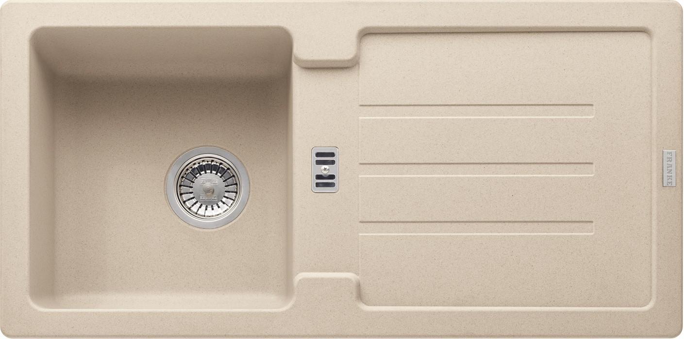 Rovný Franke - drez Fragranit STG 614, 860x435mm (pieskový melír)