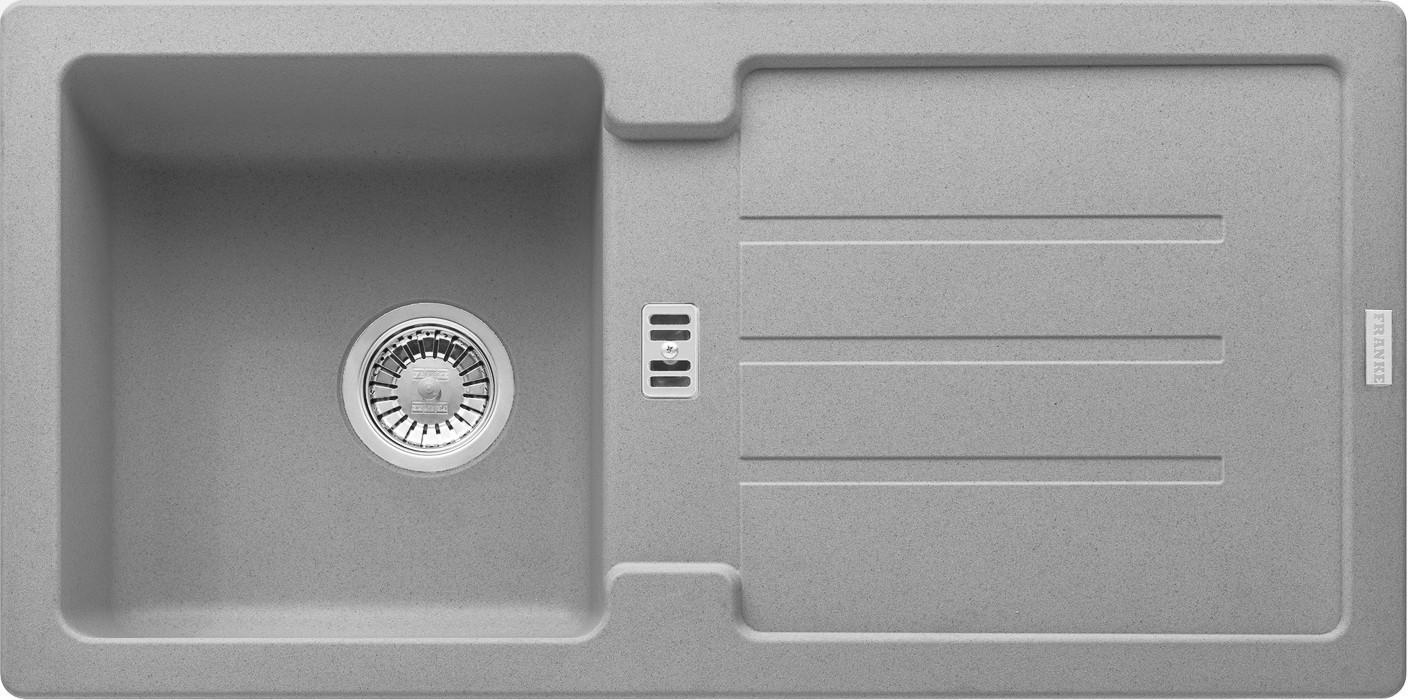 Rovný Franke - drez Fragranit STG 614, 860x435mm (sivý kameň)