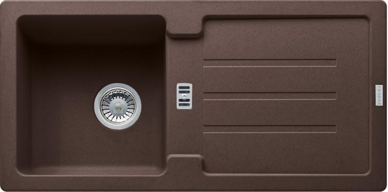 Rovný Franke - drez Fragranit STG 614, 860x435mm (tmavo hnedá)