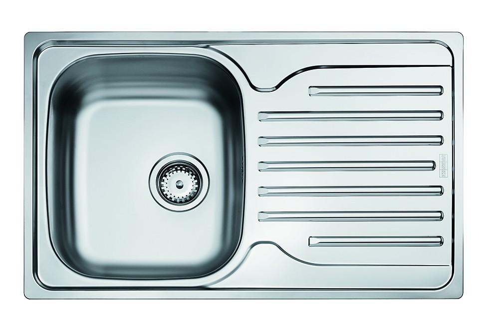 Rovný Franke - drez nerez PXN 611-78 3 1/2, 780x490 mm (strieborná)